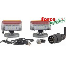 Kit feux LEDS arrière sans fil, aimantés